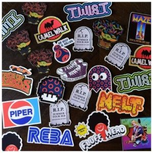 Wolfman's Cousin stickers